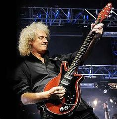 Brian May and his Red Special guitar