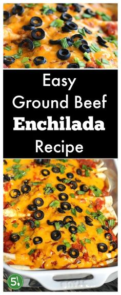 Easy ground beef enchilada recipe with red sauce that is so simple to throw together for a healthy weeknight meal. So Delicious. Easy ground beef enchilada recipe with red sauce that is so quick to throw together for a healthy weeknight meal. Healthy Weeknight Meals, Easy Healthy Recipes, Easy Dinner Recipes, Healthy Food, Diabetic Recipes, Dinner Ideas, Breakfast Recipes, Vegetarian Recipes, Easy Meals