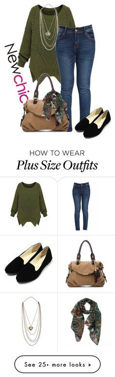 """""""newchic"""" by kim-coffey-harlow on Polyvore featuring women's clothing, women, female, woman, misses and juniors Check out our collection of Plus size Dresses http://plussizeshop.org/index.php/product-category/dresses/"""