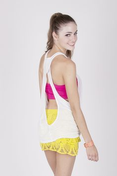 Baby got back in our Crossover Spring Fling Tank in White!  $12.60 http://www.trendyblendy.com/products/crossover-spring-fling-tank-in-white