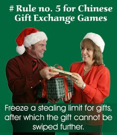 Rule for Chinese gift exchange game