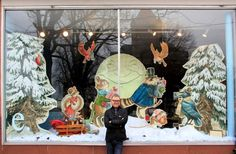Tony DiTerlizzi, author of the Search for WondLa series (S), designed the window display for Essentials, his local bookstore and gift shop in Northampton, Mass.