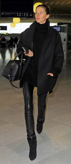 Gisele Bündchen at Charles de Gaulle Airport in Paris.