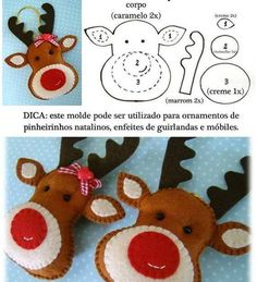 DIY christmas reindeer - simple idea for a painted rock