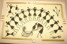 A Complete Warli painting Tutorial Guide - The Crafty Angels Worli Painting, Fabric Painting, Wall Paintings, Painting Techniques, Painting Tutorials, Crafty Angels, Indian Folk Art, Paint Cards, Christmas Tree Cards