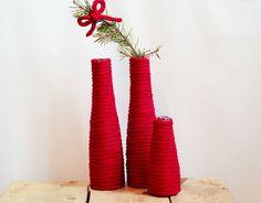 via en.dawanda.com Christmas Decorations – Strickliesel * VASE * die Große – a unique product by sechsminus on DaWanda