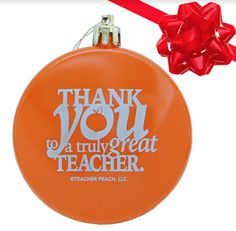 Teacher Gift Thank You Holiday Ornament -Thank the amazing teachers in your world in a most joyous way—with teacher ornaments teachers love!