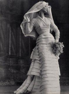 1953 wedding gown #vintage