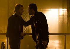 The Walking Dead S7: Dwight (Austin Amelio) and Negan (Jeffrey Dean Morgan) in Episode 3 'The Cell'  - Photo by Gene Page/ AMC