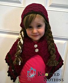 On sale $1.00- Princess Anna costume. Pattern includes cape and kerchief with braids. No code needed. Fits ages one to eight.