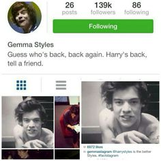 When harry did this to gemmas instagram
