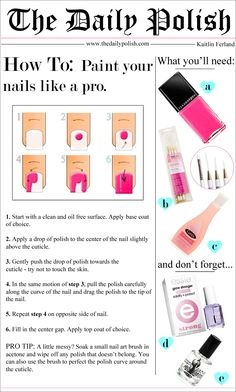 How To Paint Your Nails Like A Pro |  By Kaitlin Ferland | The Daily Polish
