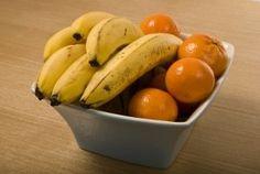 Banana and oranges for breakfast fruit