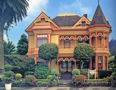 The Gingerbread Mansion in Ferndale California, 1889, now a lovingly restored Bed and Breakfast inn.