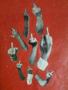 Middle finger up, I dont give a f*ck.