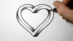 Drawing Tips easy pencil drawings for beginners Easy Pencil Drawings, Love Drawings, Pencil Art, Drawing Sketches, Sketching, Drawing Tips, Easy Heart Drawings, Love Heart Drawing, Drawings Of Hearts