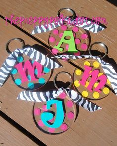 Monogram key chains