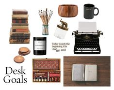 """Desk Goals"" by lottehardy ❤ liked on Polyvore featuring interior, interiors, interior design, home, home decor, interior decorating, Authentic Models, Byredo, Dansk and Flamant"