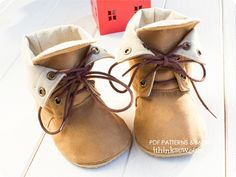 i think sew: Adler baby combat boots pattern (could perhaps be shortened for more of a chukka boot look?)