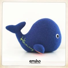 Personalized Whale for Henry Whale, Dinosaur Stuffed Animal, Toys, Animals, Stuffed Toys, Animales, Whales, Animaux, Toy