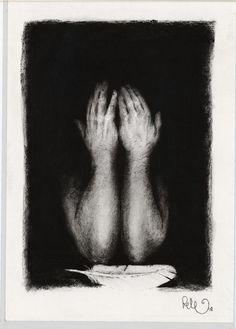 "Saatchi Online Artist: Pete Codling; Charcoal, 2011, Drawing ""Message"""