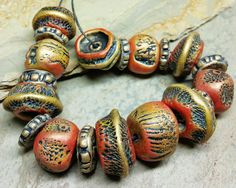 Check out this item in my Etsy shop https://www.etsy.com/listing//polymer-clay-bead-collectiion-eclectic