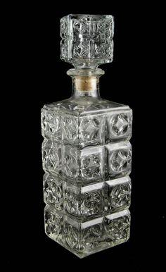 Vintage Faceted Glass Liquor Decanter by MorningGloryModerne
