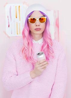 ℒᎧᏤᏋ her long wavy purple to pink ombré hair!!!! ღ❤ღ