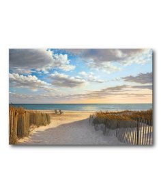 Another great find on #zulily! Sunset Beach Gallery-Wrapped Canvas #zulilyfinds