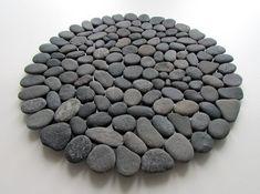 image 0 Pebble Floor, Pebble Mosaic, Pebble Art, Base, Hot Pot, Grey Stone, Accent Pieces, Design Elements, Pot Holders
