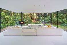 Completed in 2017 in Rijssen, The Netherlands. Images by Ronald Tilleman. How do you transform a villa into a comfortable, contemporary, sustainable home? To find the answer, the architect Theo Reitsema and the. Casa Gaudi, Casa Kardashian, Living Haus, Living Room, Old Home Remodel, House Extensions, Modern House Design, Modern Houses, Interior Architecture