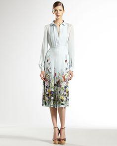Gucci Flora Infinity Printed Silk Georgette Dress - Neiman Marcus