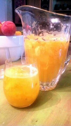 Lakecrest Moscato Sangria Cocktails  1/3-1/2 very ripe FRESH pineapple 4 ripe fresh peaches 2/3 cup Belvedere Vodka 1/3 cup Jameson Irish Whiskey 1 bottle Marco Negri Moscato - chilled Peel & chop pineapple. Use muddler to mash coarsely in pitcher. Add peeled & pitted peaches, crush lightly with muddler. Add vodka, whiskey, & muscato. Stir, seal and chill well before serving. This packs a punch - so drink wisely. (May add a little simple syrup if desired.)