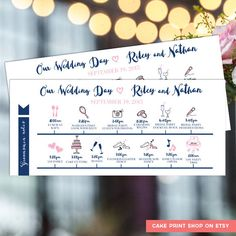 WeddingItineraryDesign  Birthday Party Planning Ideas