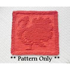 Thanksgiving Turkey Knit Dishcloth Pattern, handmade hostess gift