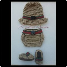 44c10a0fc1e Gucci Crochet Gucci Inspired Set by KnottedAmore on Etsy Newborn Crochet