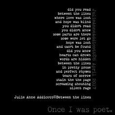 "19 Likes, 1 Comments - Julie Anne Addicott ~ Author (@demonsoulangelheart) on Instagram: ""#poet #poem #poetry #rhymes #author #julieanneaddicott #quotes #writer #searching #hope #lost…"""