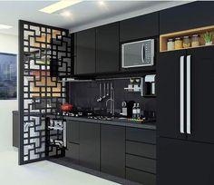 Kitchen Room Design, Kitchen Cabinet Design, Kitchen Layout, Home Decor Kitchen, Kitchen Furniture, Living Room Decor Colors, Apartment Balcony Decorating, Minimal Kitchen, Modern Kitchen Cabinets