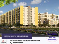 Luxury Meets Convenience @ PaudGaon 1 & 2 BHK Flats - call -9168609838 #1BHK  #2BHK #Pune #PaudGaon