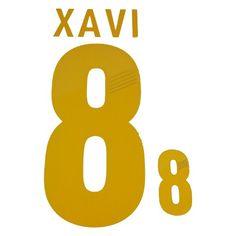 Spain 2012/13 Xavi #8 Adult Home Name Set