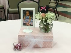 Cute centerpiece for a Minnie Mouse themed 1st birthday.