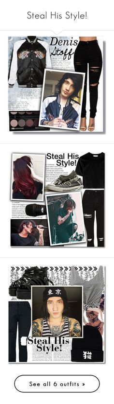 """Steal His Style!"" by isabeldizova ❤ liked on Polyvore featuring Topshop, music, rock, PunkRock, sleepingwithsirens, kellinquinn, Kershaw, WithChic, StreetStyle and denim"