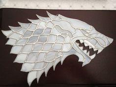 Game of Thrones House Stark Direwolf  by CJJackStainedGlass