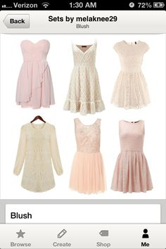 Not necessarily pink but the design.... Mismatched bridesmaid dresses under $50 - Blush