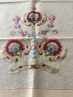 This Pin was discovered by saf Embroidery On Kurtis, Kurti Embroidery Design, Embroidery Neck Designs, Embroidery Flowers Pattern, Embroidery Saree, Flower Patterns, Jacobean Embroidery, Crewel Embroidery, Machine Embroidery