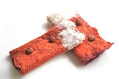 Buttoned fox cuffs Lace Scarf, Wet Felting, Costume Accessories, Wearable Art, Cuffs, Fox, Etsy Seller, Unique, Floral