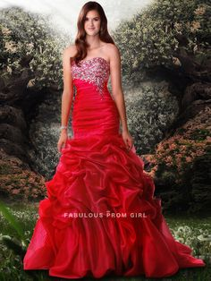 Trumpet / Mermaid Sweetheart  Beading  Sleeveless Floor-length Organza Prom Dresses / Evening Dresses
