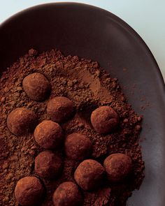 These truffles are inspired by brigadeiros, a confection popular throughout Brazil. Dark Chocolate Truffles, Best Chocolate, Chocolate Desserts, Melting Chocolate, Chocolate Ganache, Chocolate Cream, Egg Free Desserts, Cake Recipes, Dessert Recipes