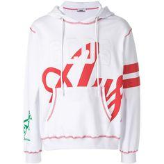 Gcds Printed Logo Hoodie Sweatshirt (€295) ❤ liked on Polyvore featuring men's fashion, men's clothing, men's hoodies, white, mens hoodies, mens cotton hoodies and mens sweatshirts and hoodies