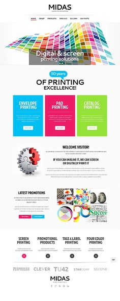 Template 47978 - Printing  Responsive Website Template